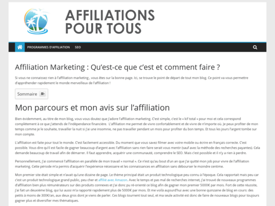 Affiliations boutique pour webmaster