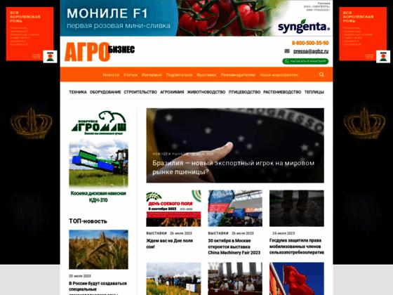 Скриншот сайта agbztech.ru