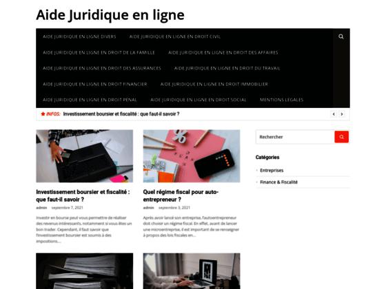 Aide juridique - aide-juridique-en-ligne.com