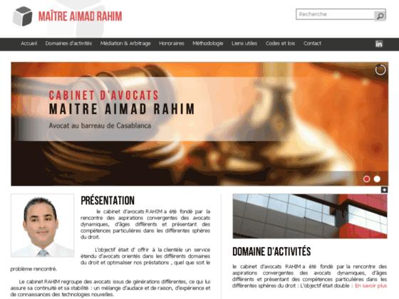MAITRE AIMAD RAHIM : le cabinet d'avocats