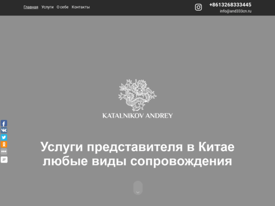 Скриншот сайта and333cn.ru