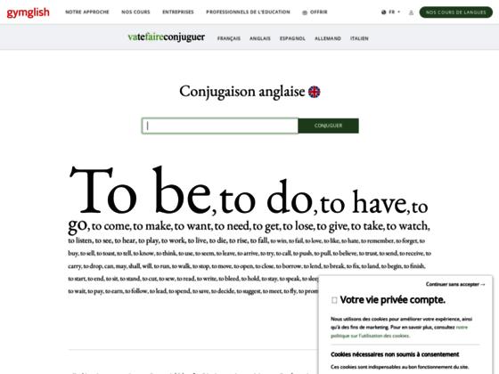 La conjugaison des verbes anglais anglais