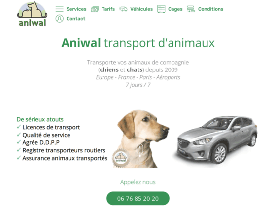 Aniwal Taxi Animalier - Transport animalier - Paris France Europe, national international