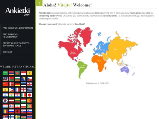 Скриншот сайта www.ankietki.com