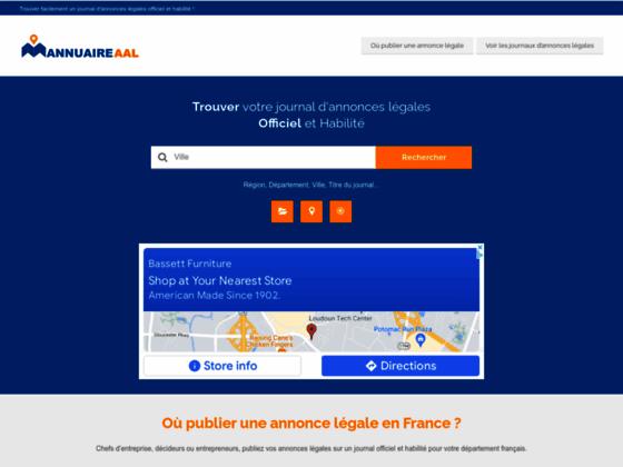 Journaux Annonces Legales - AAL