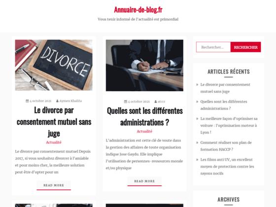 Annuaire Blog