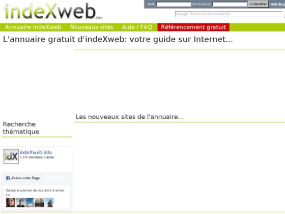 Annuaire gratuit indeXweb.info