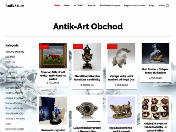 Скриншот сайта www.antikart.cz