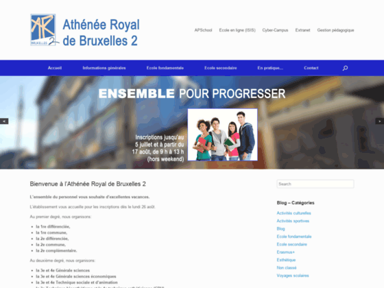 Athénée Royal de Bruxelles 2 - Portail officiel