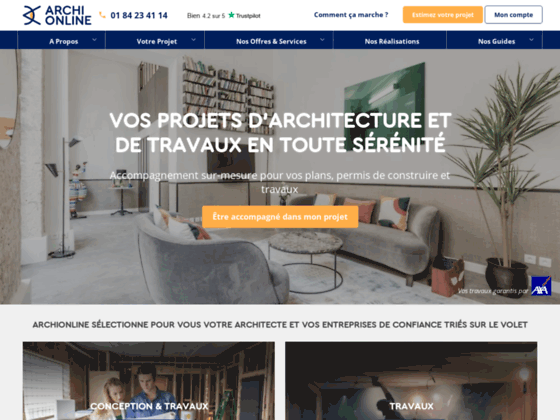 Archionline, plans d'architectes sur Internet
