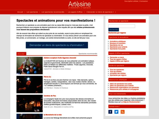 Annuaire de l'animation évènementielle - Artésine