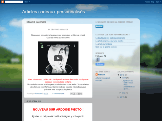 le blog de l'ardoise photo en cadeau