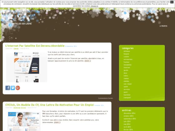 Blog perso. Articles en ligne