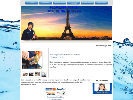 Artisan plombier professionnel à Paris