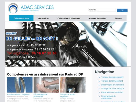 Adac Services Assainissement Paris Ile de France