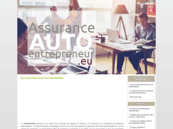 Assurance auto entrepreneur