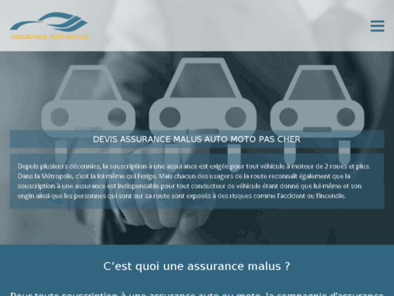 Assurance auto pour malussé