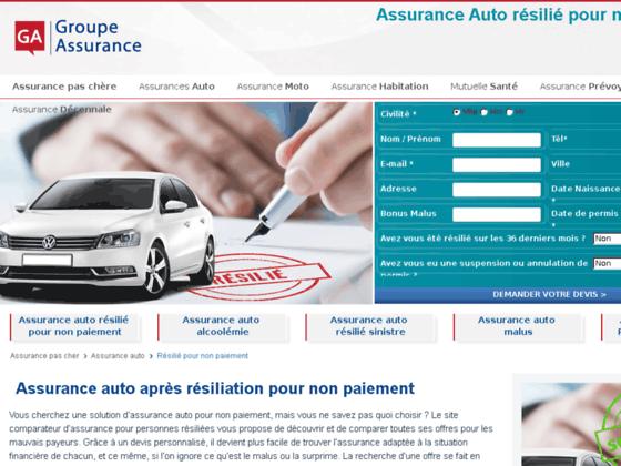 Assurance auto resiliation non paiement - Assurance auto resiliation