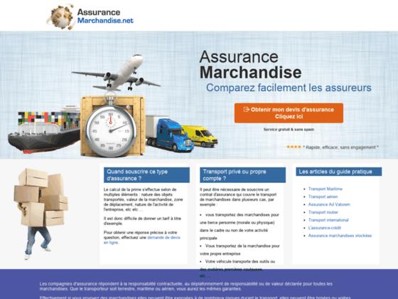Comparez des assurances de marchandises