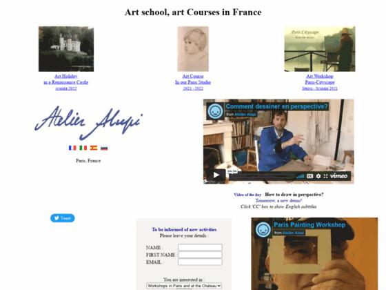 Enseignement peinture dessin, Atelier Alupi