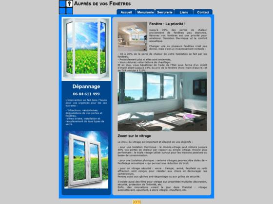 Auprès de vos Fenêtres - Mensuierie alu et PVC - Accueil