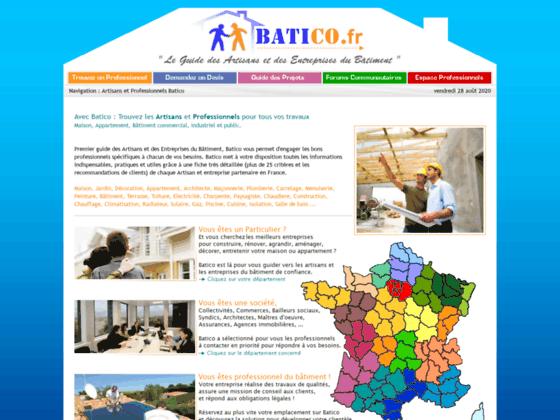 1° Site des artisans du bâtiment en France