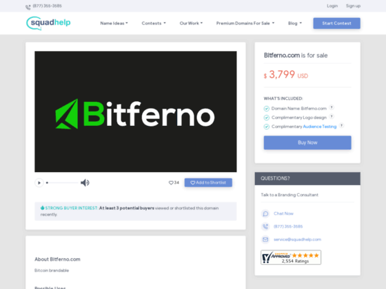 Скриншот сайта bitferno.com