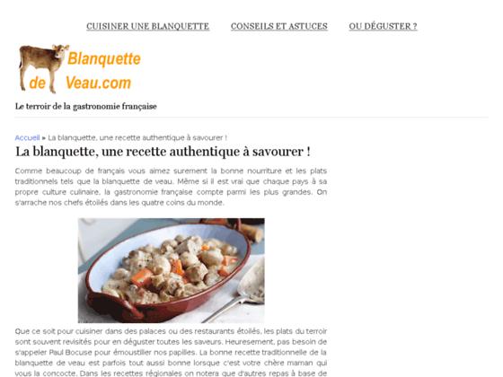 blanquettesdeveau.com : Le meilleur du veau