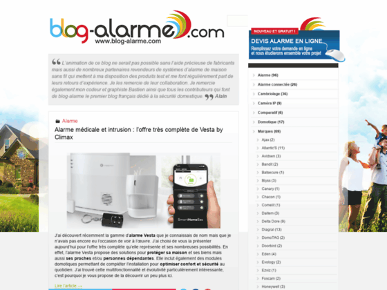 Blog Alarme - Les systèmes d'alarme et la sécurité électronique, actualités, technologies, comp