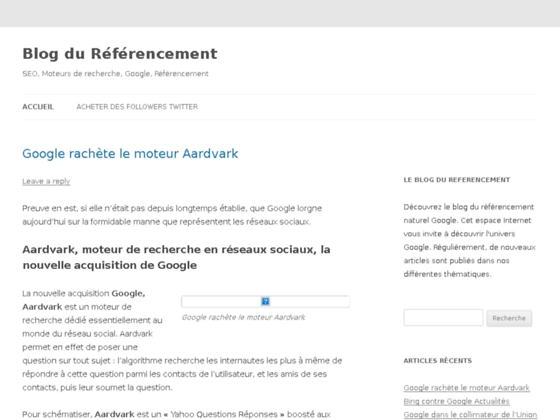 Le blog du referencement Google