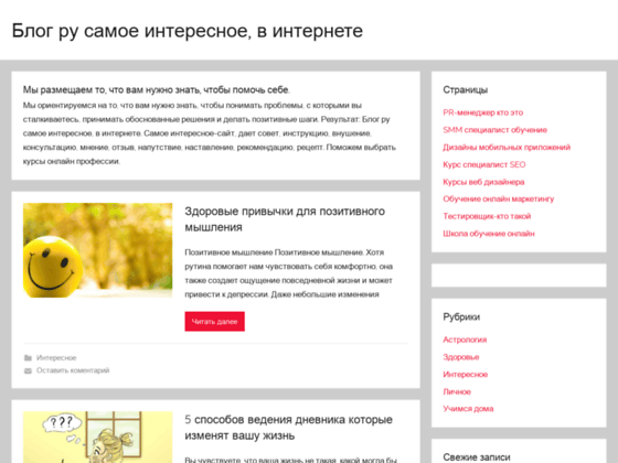 Скриншот сайта blogru.ru