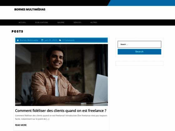 Bornes multimedia : vecteurs d'information et publicité
