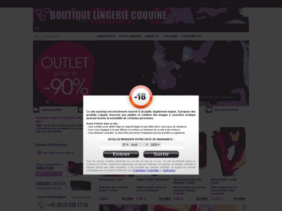 Boutique lingerie coquine