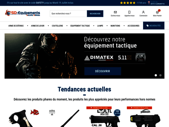 Site de vente en ligne d'equipements de défense