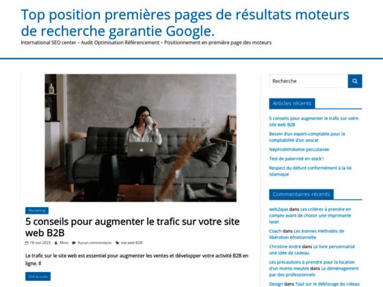 Top position premières pages de résultats moteurs de recherche garantie Google-Audit-Optimisation-Ré