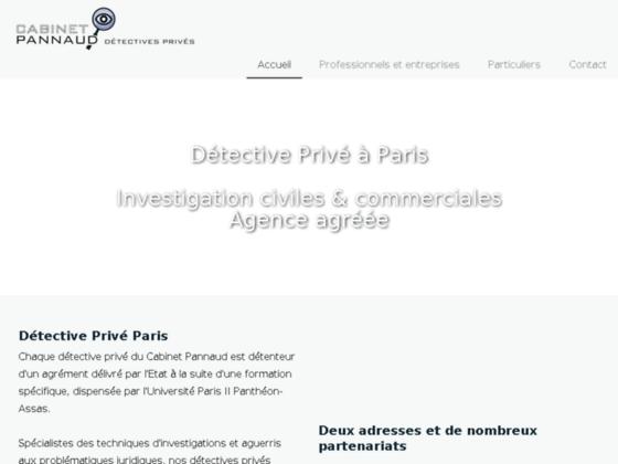 Détective Privé Paris - Cabinet Pannaud