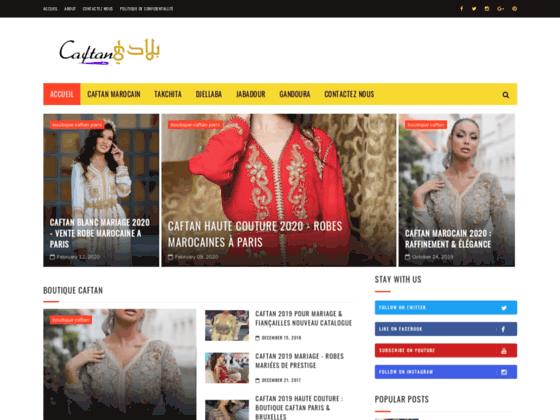 Caftan marocain boutique en ligne