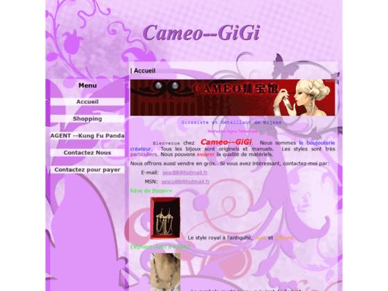 Cameo--GiGi - Accueil
