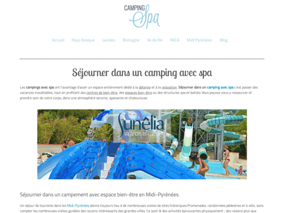 Camping avec spa - Spa camping Pays Basque