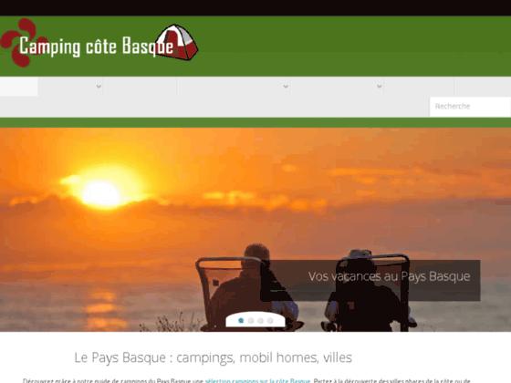 Location dans un camping sur la côte basque
