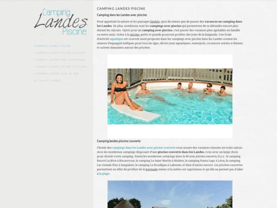 Camping Landes piscine : piscine chauffée