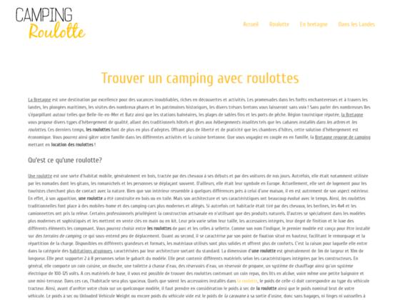 Camping roulotte : vacances en roulotte