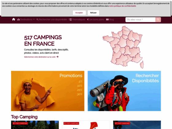 Disponibilités campings avec Campingdispo.fr annuaire guide vacances