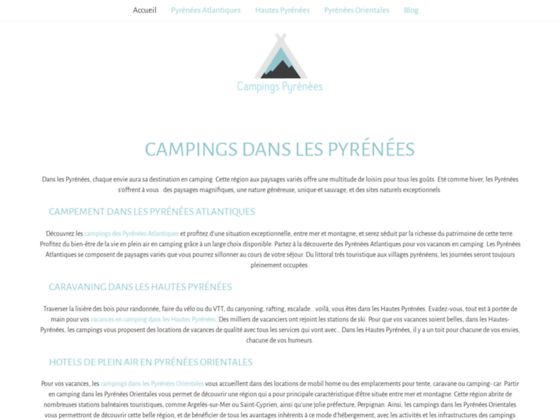 Camping Pyrénées : Camping Pyrenees Atlantique