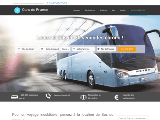 Location d'autocar avec chauffeur - cars-de-france.com