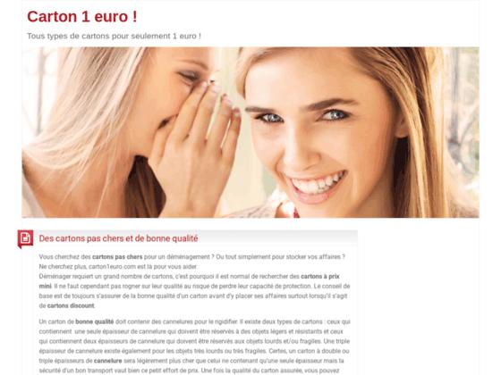 Carton 1 euro