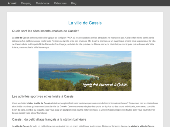 Cassis France : location mobil home cassis
