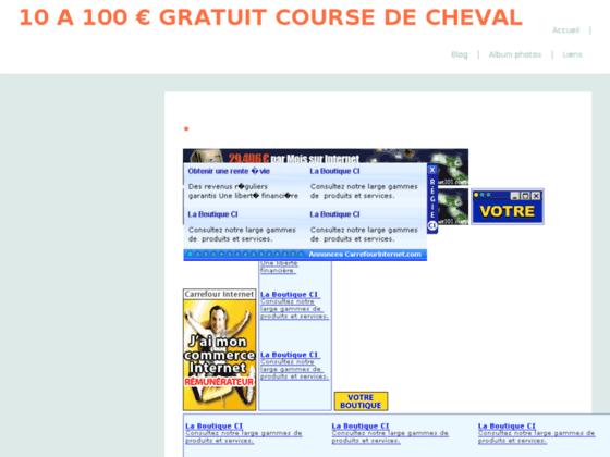CHEVAL DE COURSE JEUX CHEVAUX DE COURSE GAGNEZ 40