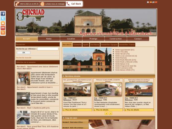 Chicriad : Vente de riad à Marrakech