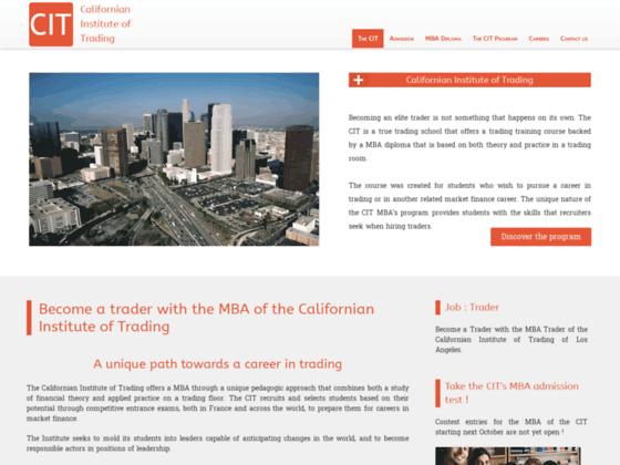 CIT, une école pour devenir trader aux USA